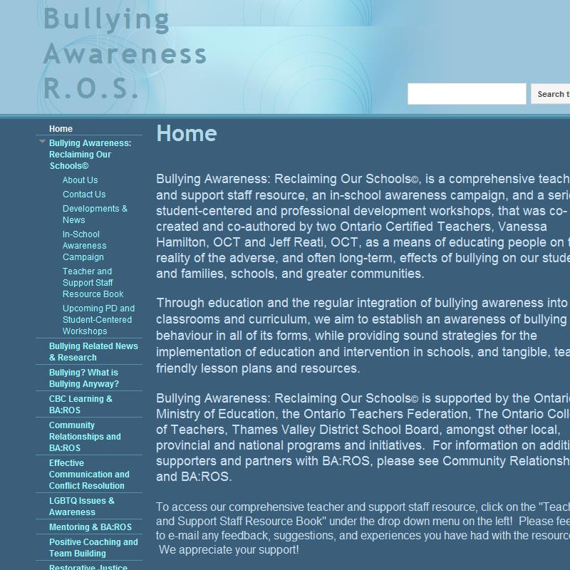 Bullying Awareness: Reclaiming Our Schools