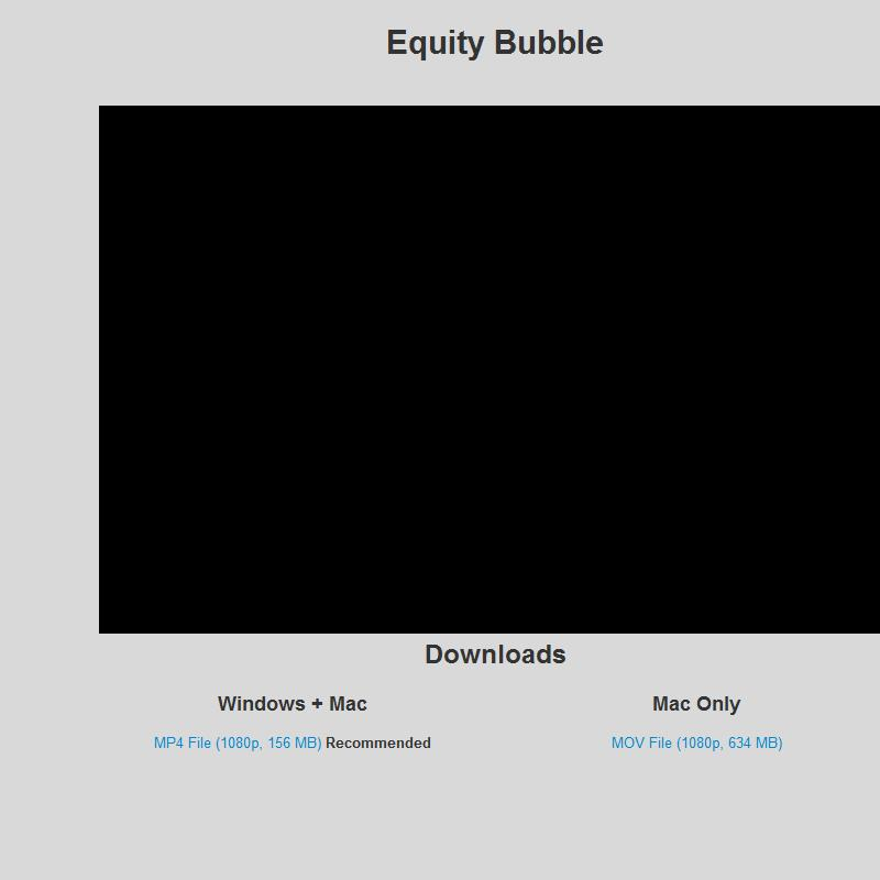 The Equity Bubble
