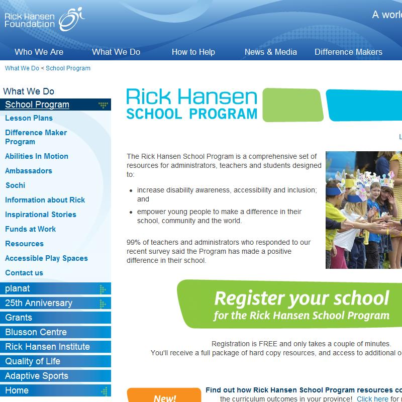 Rick Hansen School Program