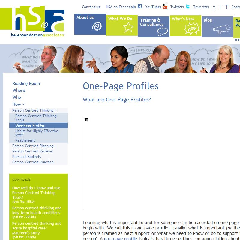 One Page Profiles