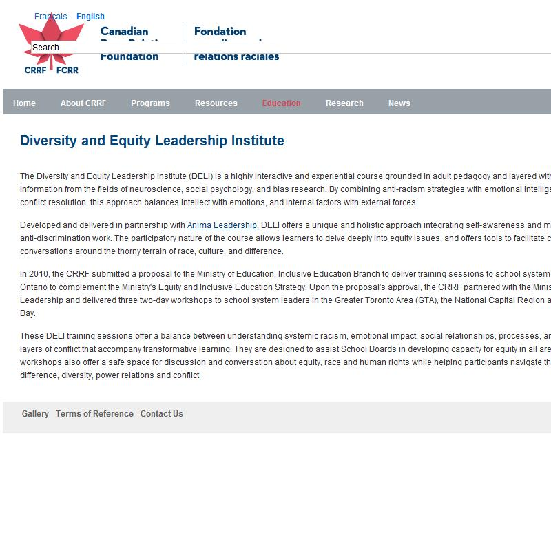 Diversity and Equity Leadership Institute