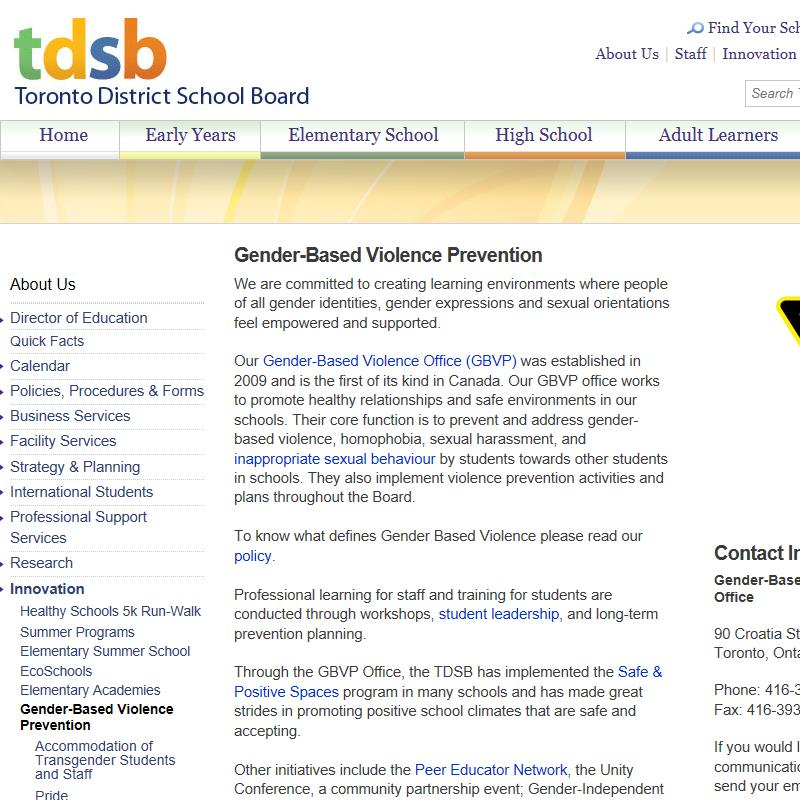 Gender Based Violence Prevention