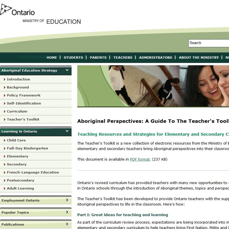 Aboriginal Perspectives: Teaching Strategies