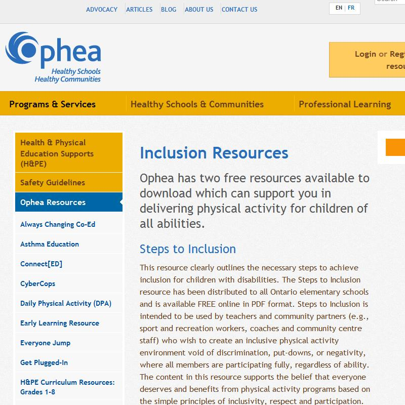 Steps to Inclusion
