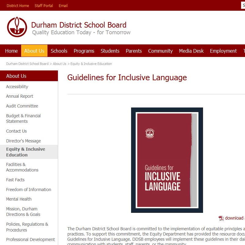 Guidelines for Inclusive Language