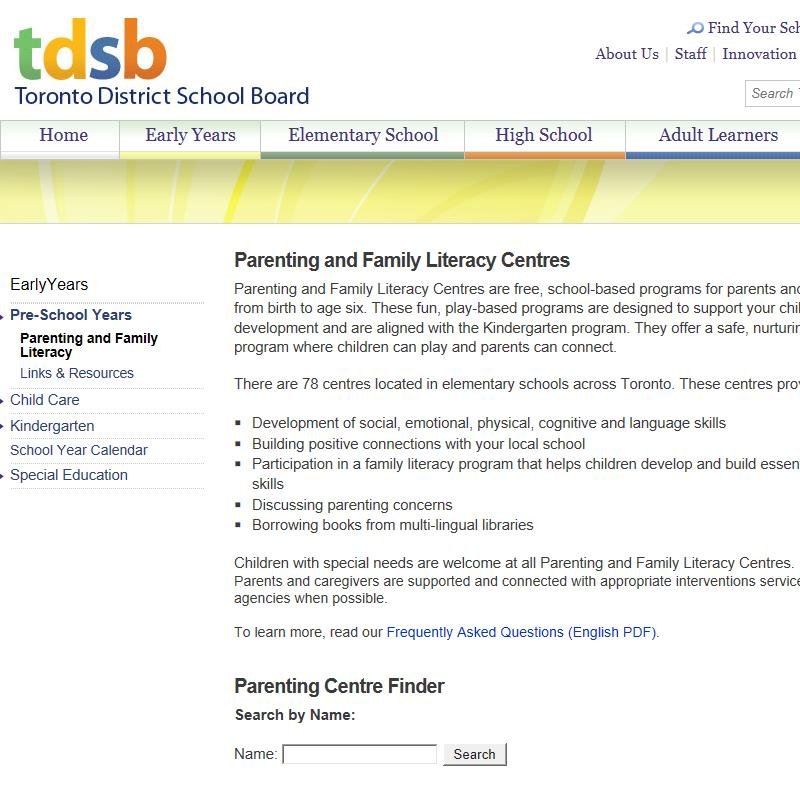 Parenting and Family Literacy Centres