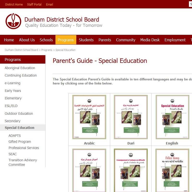 Parent's Guide - Special Education