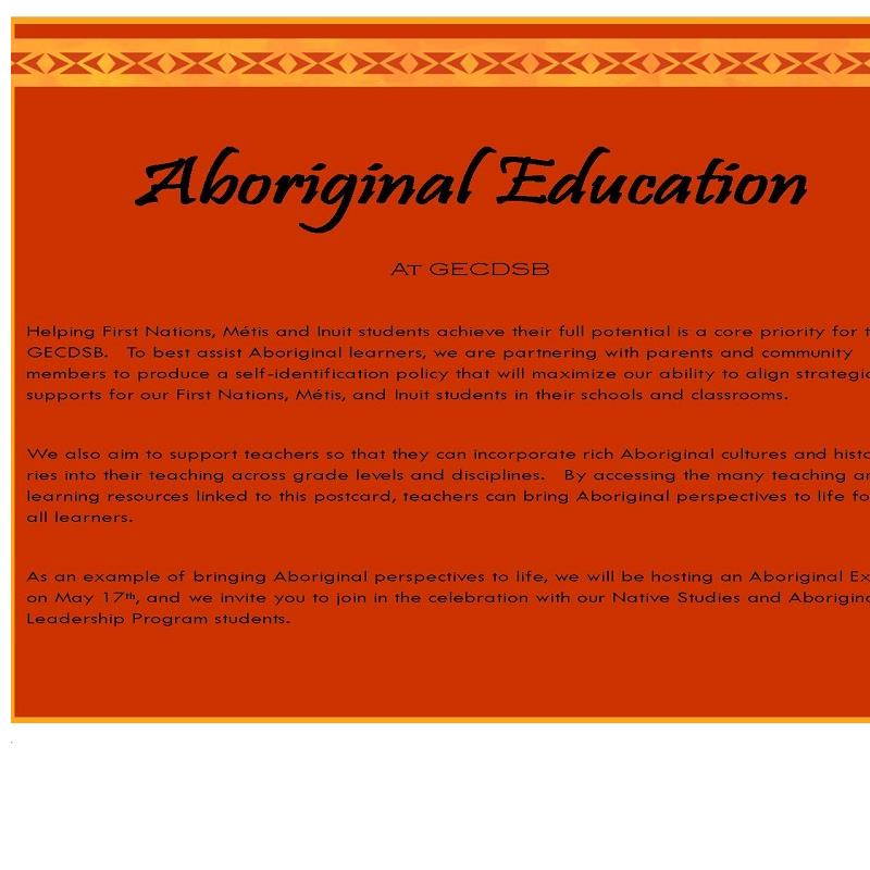 Classroom Materials: Aboriginal Students