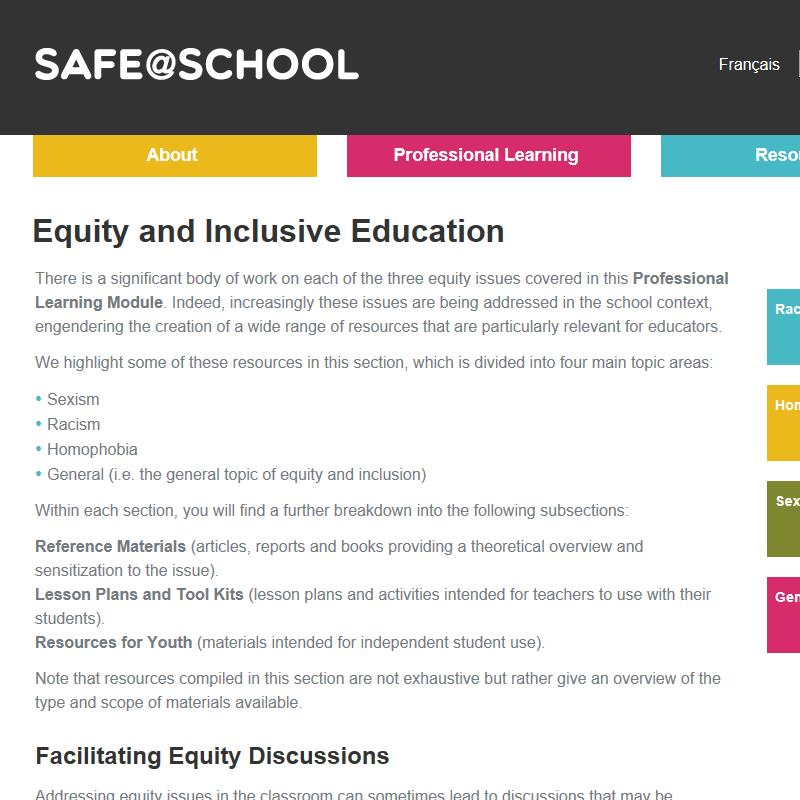 Extensive Resources: Equity and Inclusive Education Issues