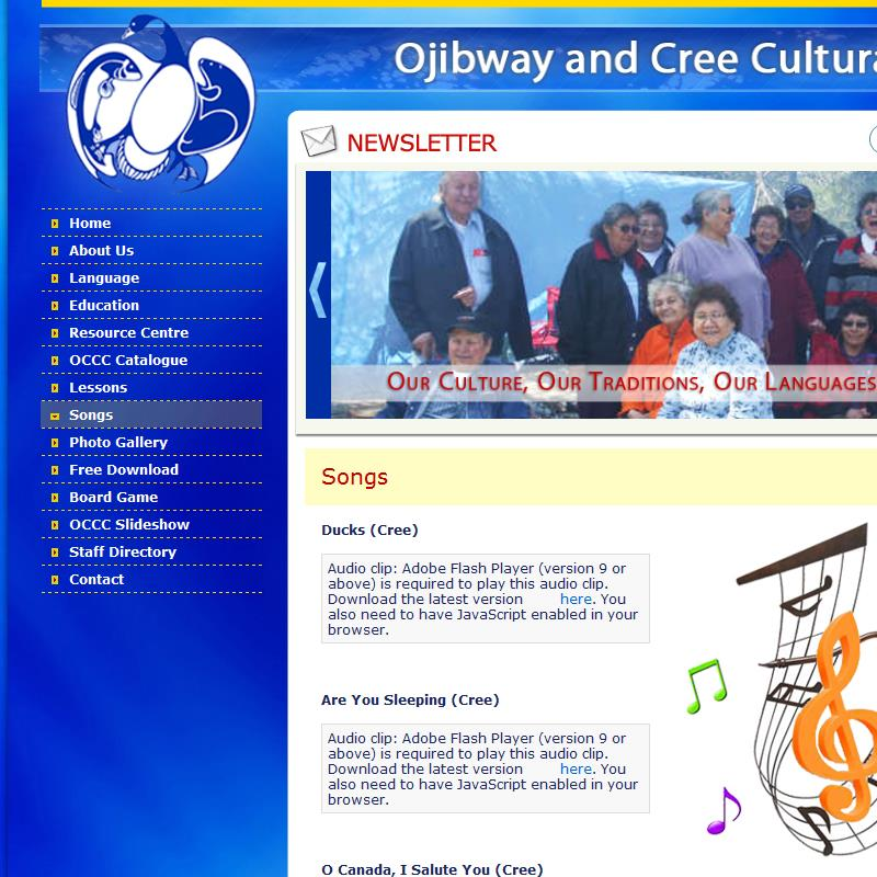 Songs in Cree and Oji-Cree